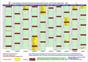 Miur Calendario Scolastico.Calendario Scolastico A S 2019 20 Www Icalezio Gov It